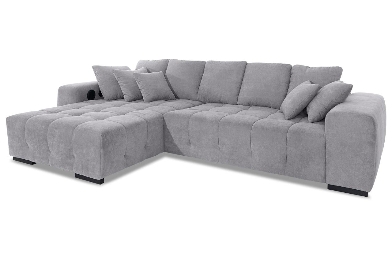 ecksofa atlantic mit sound und motor grau sofas zum. Black Bedroom Furniture Sets. Home Design Ideas