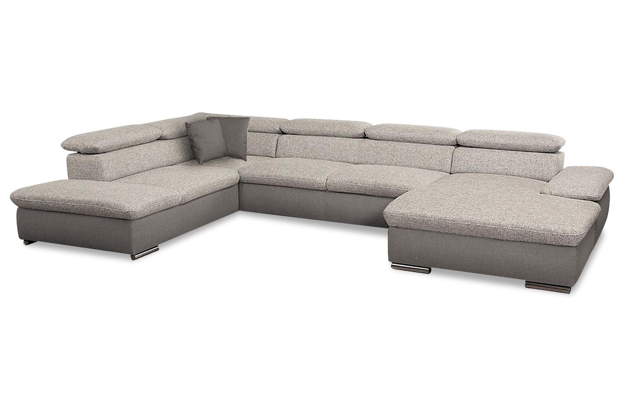 Wohnlandschaft alcudia mit schlaffunktion creme sofa for Wohnlandschaft ebay
