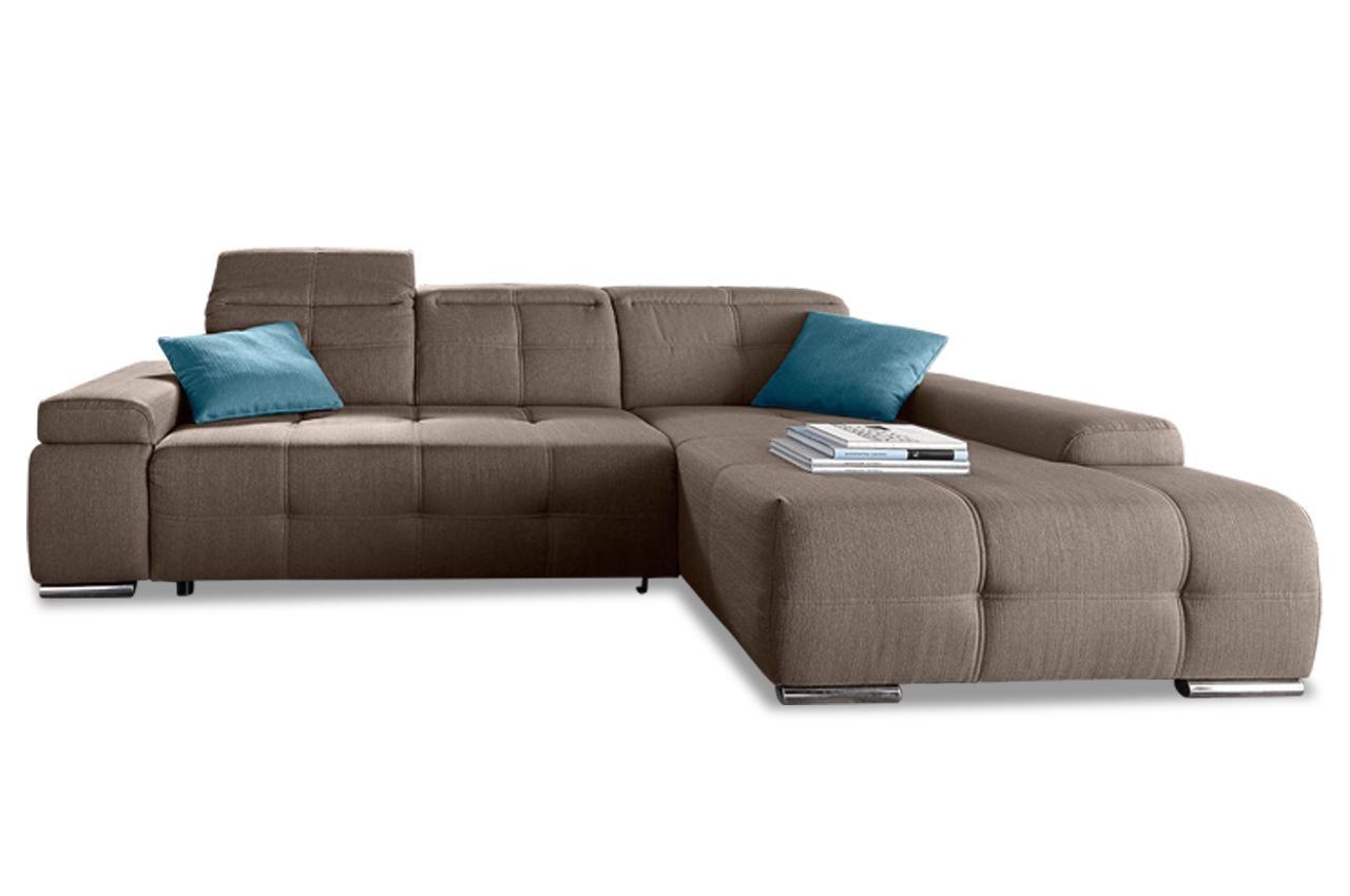 ecksofa mistral mit schlaffunktion braun sofas zum. Black Bedroom Furniture Sets. Home Design Ideas