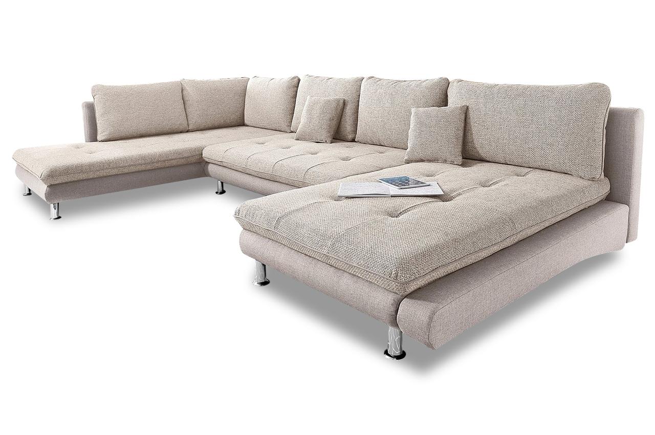 Wohnlandschaft lounge creme sofas zum halben preis for Wohnlandschaft creme
