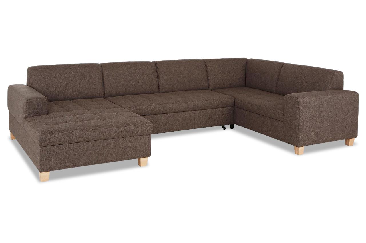 wohnlandschaft teri mit schlaffunktion braun sofas zum halben preis. Black Bedroom Furniture Sets. Home Design Ideas