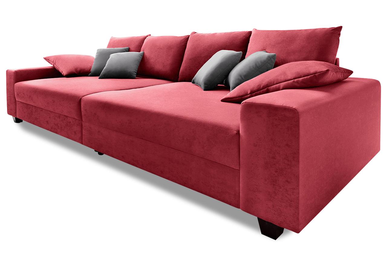 Bigsofa quadro rot mit federkern sofas zum halben preis for Sessel quadro