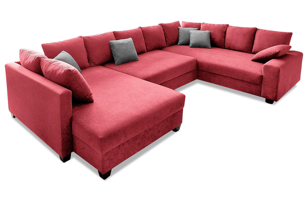 nova via wohnlandschaft quadro mit schlaffunktion anthrazit mit federkern sofas zum halben. Black Bedroom Furniture Sets. Home Design Ideas