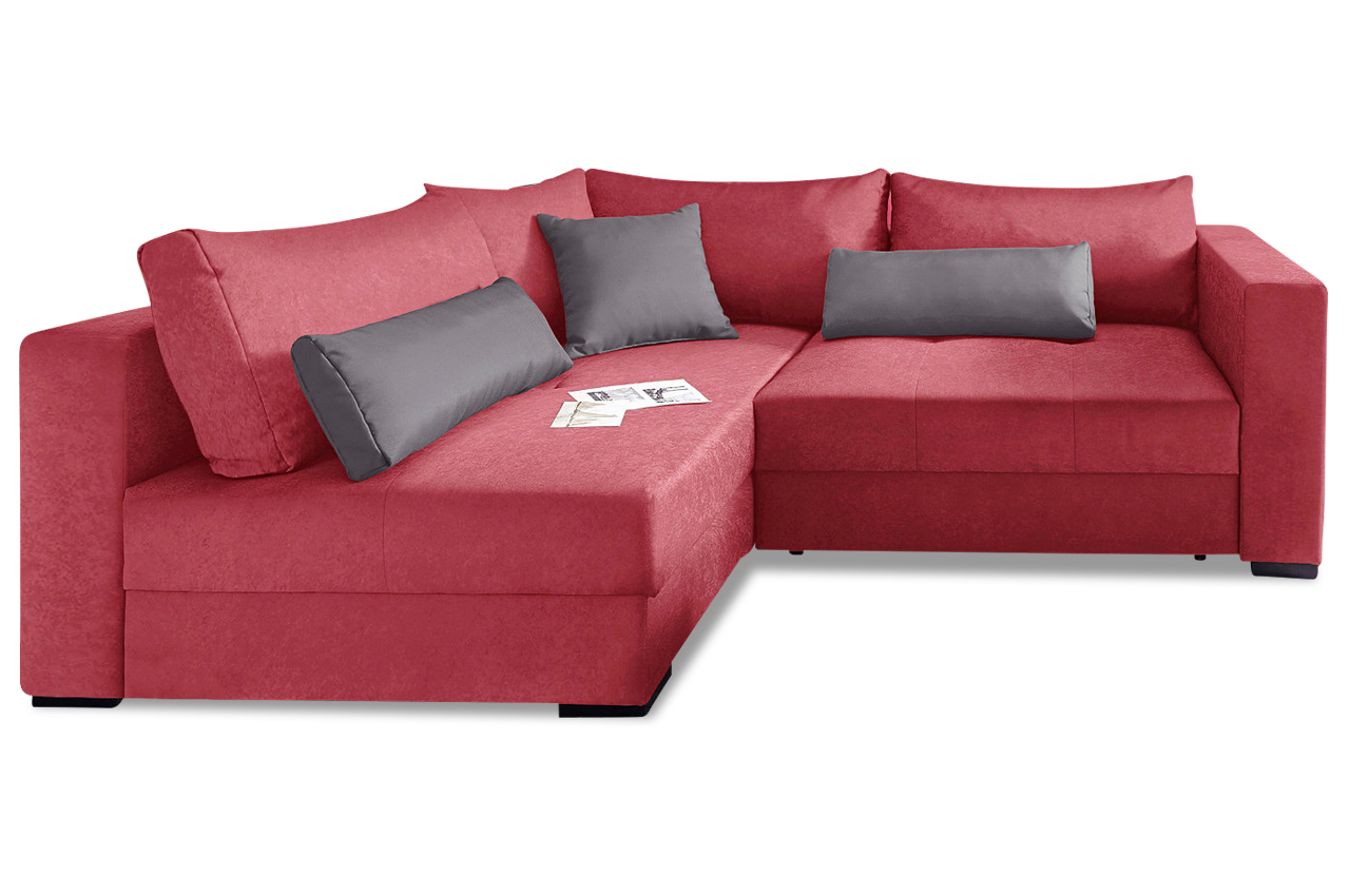 nova via ecksofa xl lennox rot sofa couch ecksofa ebay. Black Bedroom Furniture Sets. Home Design Ideas