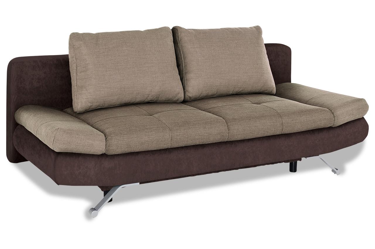 Schlafsofa mit schlaffunktion braun sofas zum halben for Schlafsofa braun