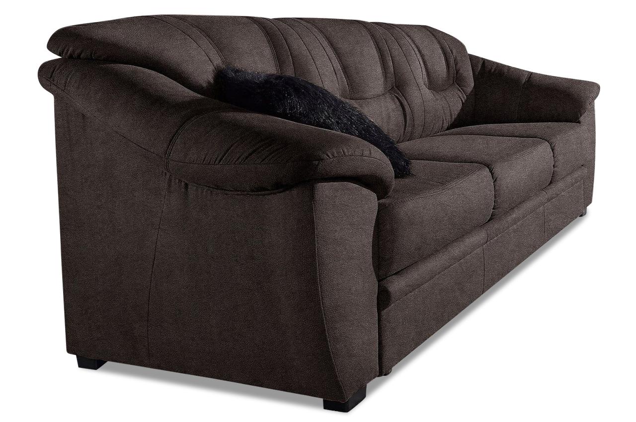 sit more 3er sofa safira braun mit federkern sofas zum halben preis. Black Bedroom Furniture Sets. Home Design Ideas