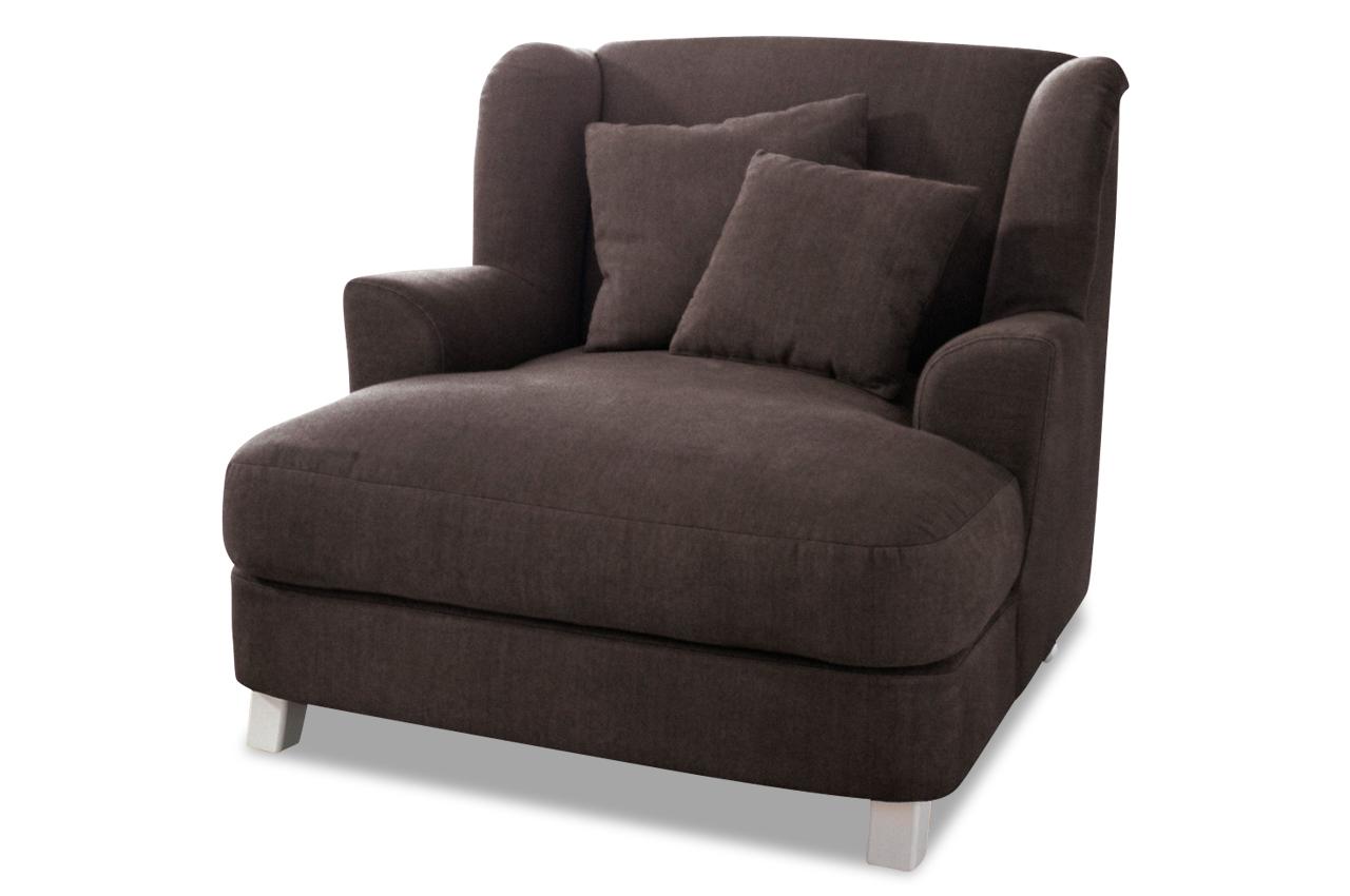 bigsessel xxl asado braun sofa couch ecksofa ebay. Black Bedroom Furniture Sets. Home Design Ideas