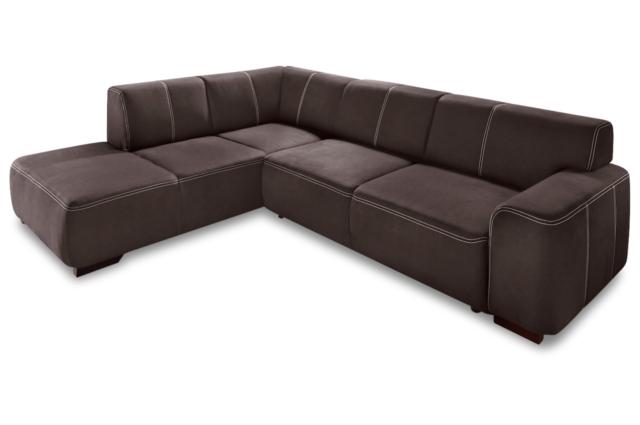 sit more ecksofa xl laredo mit schlaffunktion braun. Black Bedroom Furniture Sets. Home Design Ideas