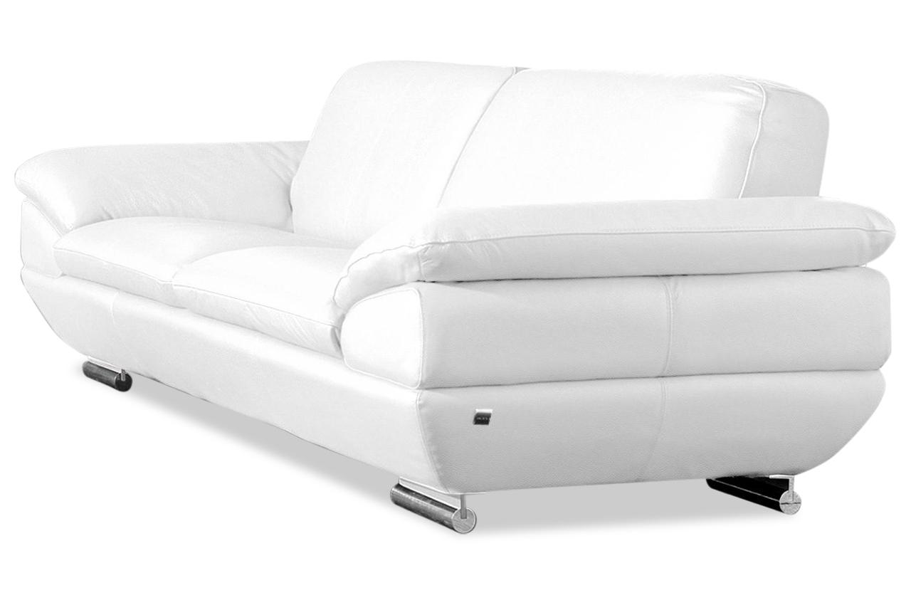 Calia Italia Leder 2er-Sofa EST 269 - Weiss | Sofas zum halben Preis