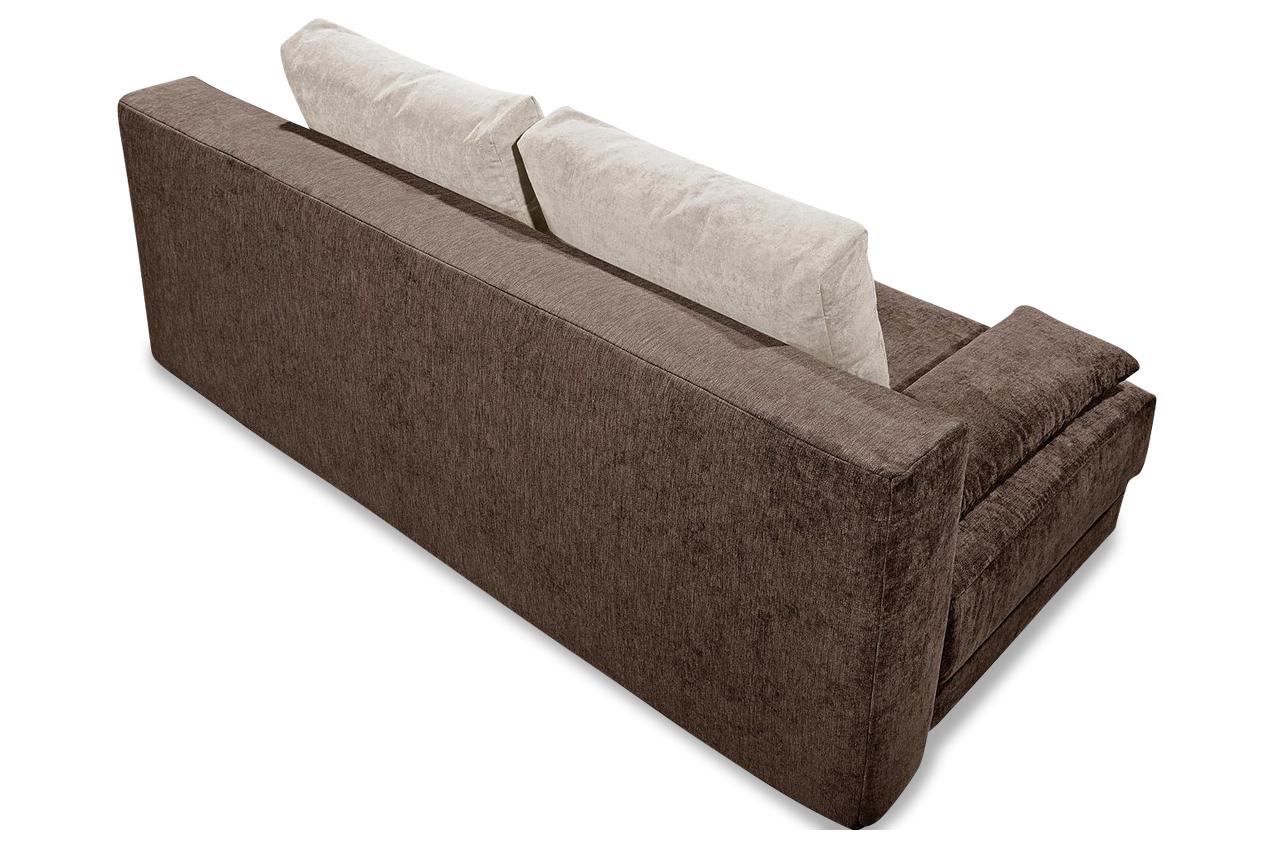 sofa team 3er sofa 178 mit schlaffunktion braun mit federkern sofas zum halben preis. Black Bedroom Furniture Sets. Home Design Ideas
