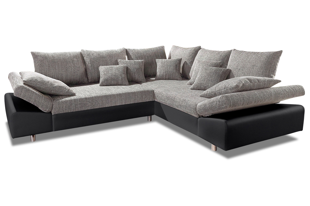 nova via ecksofa xl pandora schwarz sofa couch ecksofa ebay. Black Bedroom Furniture Sets. Home Design Ideas