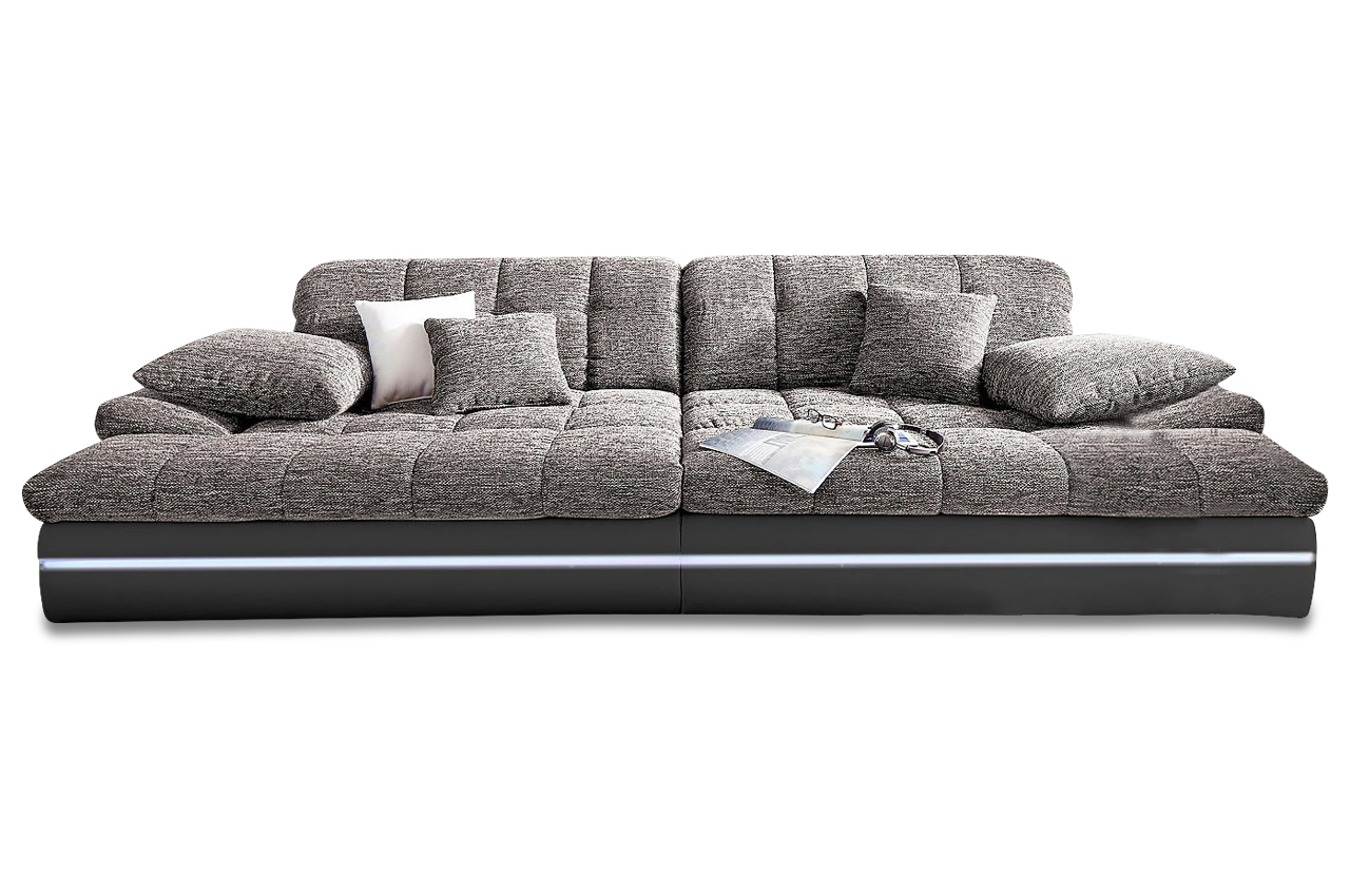 bigsofa biarritz mit led sofas zum halben preis. Black Bedroom Furniture Sets. Home Design Ideas