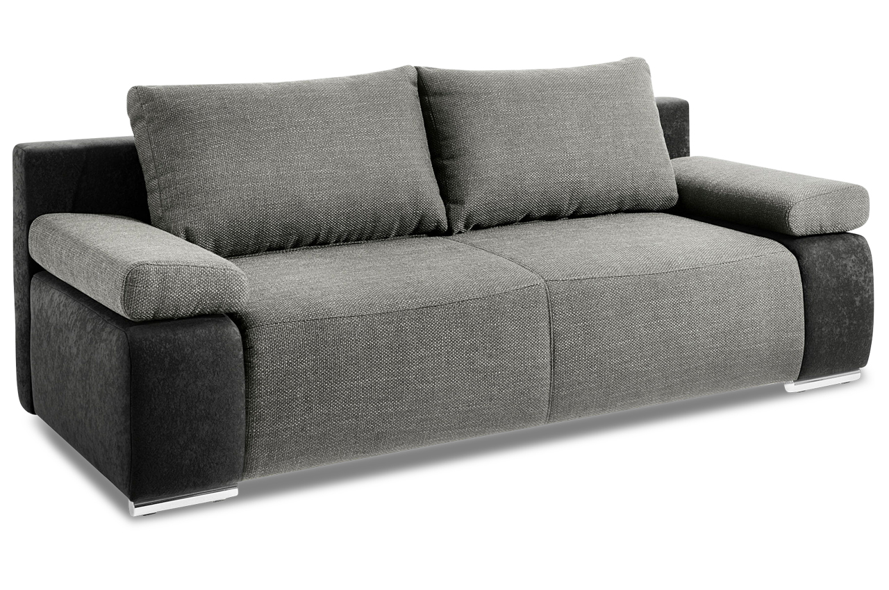 3er sofa mit schlaffunktion anthrazit sofas zum for Sofa anthrazit