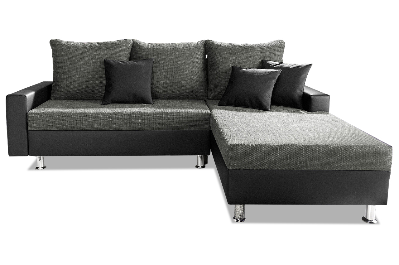 ecksofa maxi grau sofas zum halben preis. Black Bedroom Furniture Sets. Home Design Ideas
