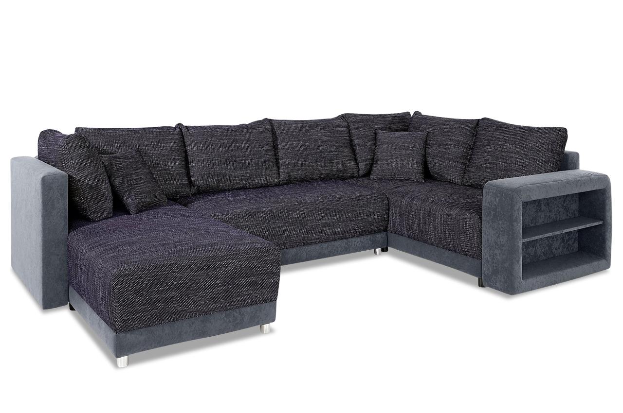 wohnlandschaft mit schlaffunktion schwarz sofas zum halben preis. Black Bedroom Furniture Sets. Home Design Ideas