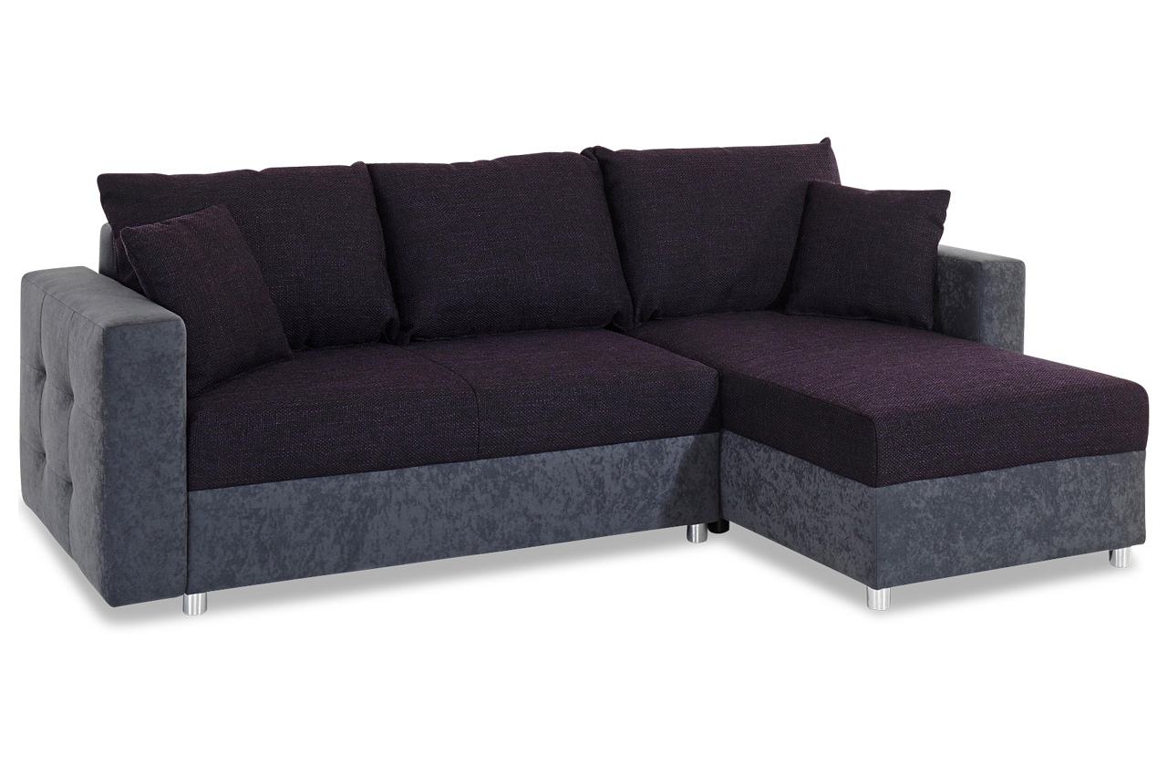 ecksofa mit schlaffunktion violette sofas zum halben preis. Black Bedroom Furniture Sets. Home Design Ideas