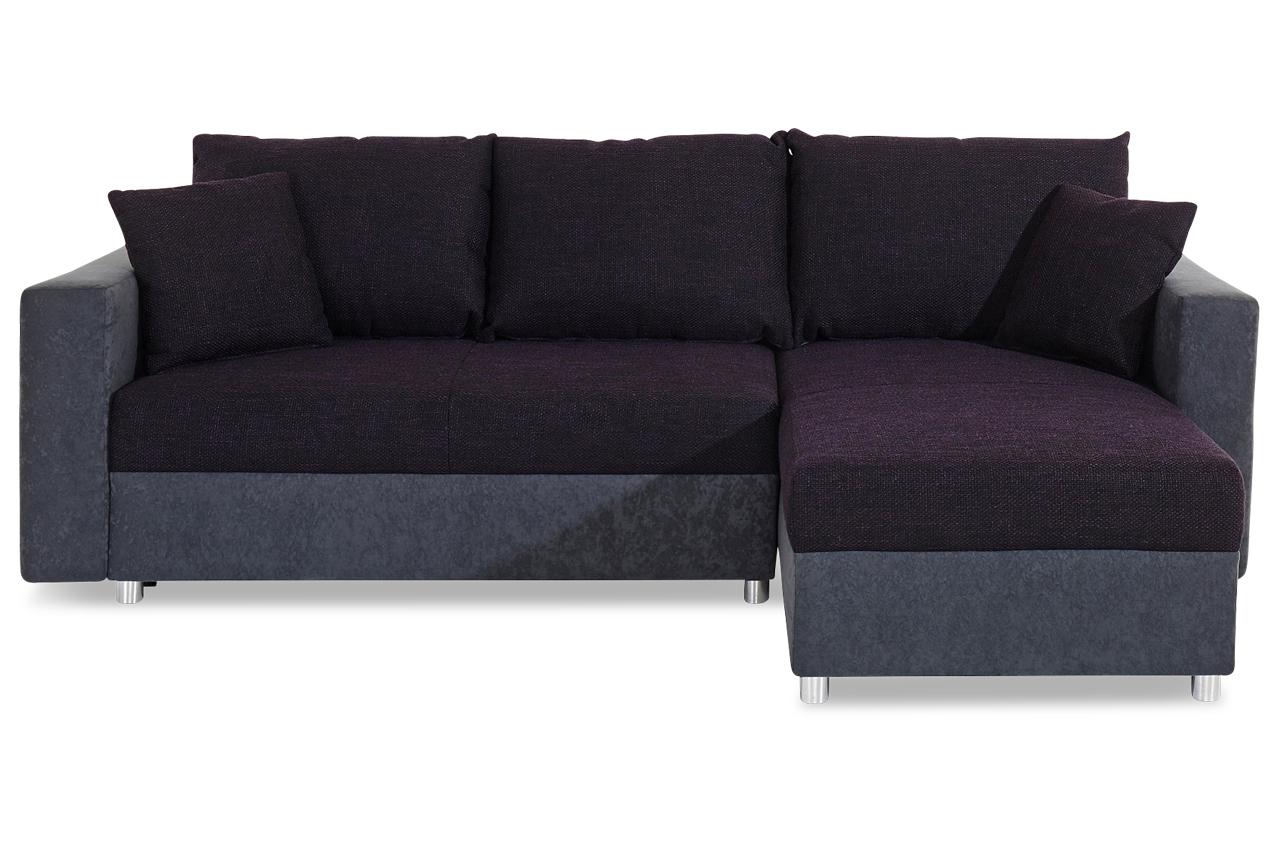Ecksofa mit schlaffunktion violette sofas zum halben for Ecksofa caro