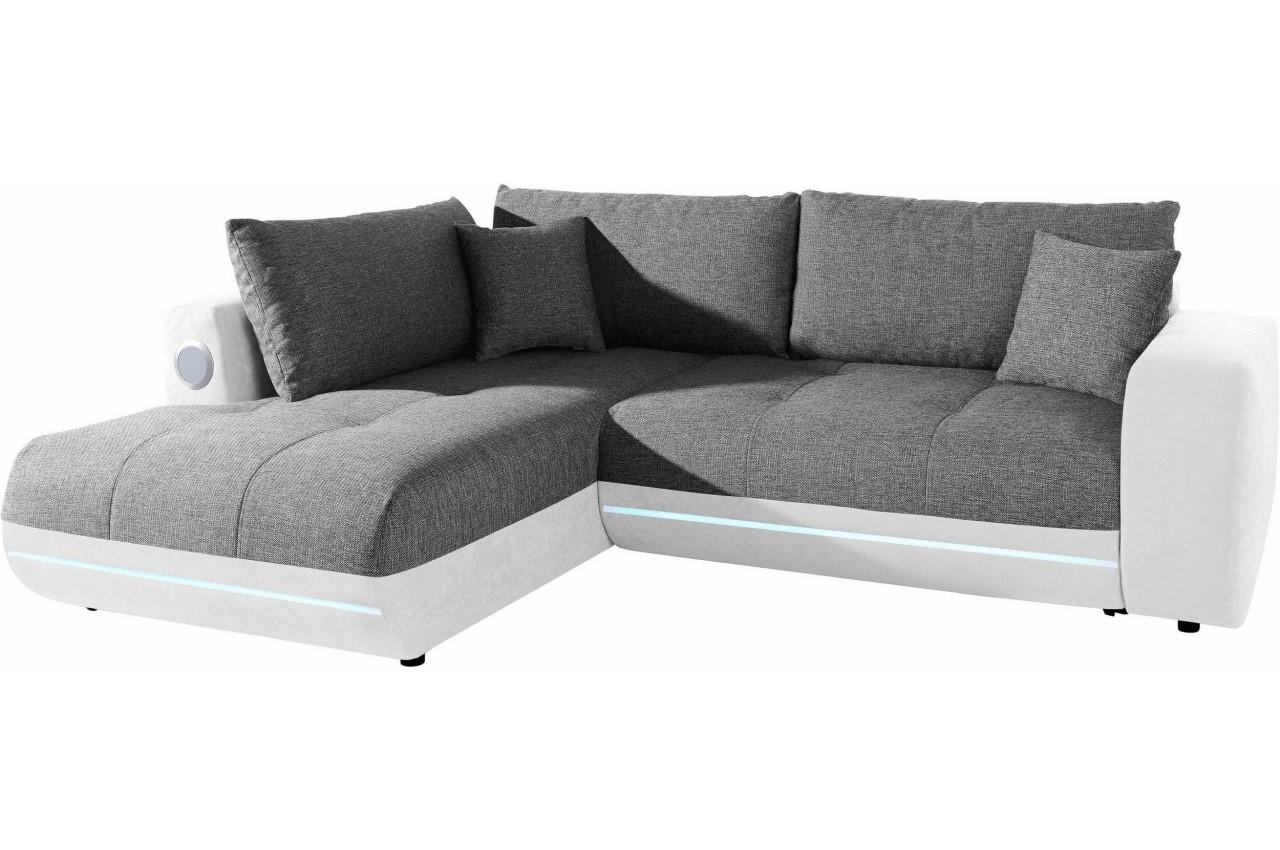 castello ecksofa xl music sofa links mit led und sound. Black Bedroom Furniture Sets. Home Design Ideas