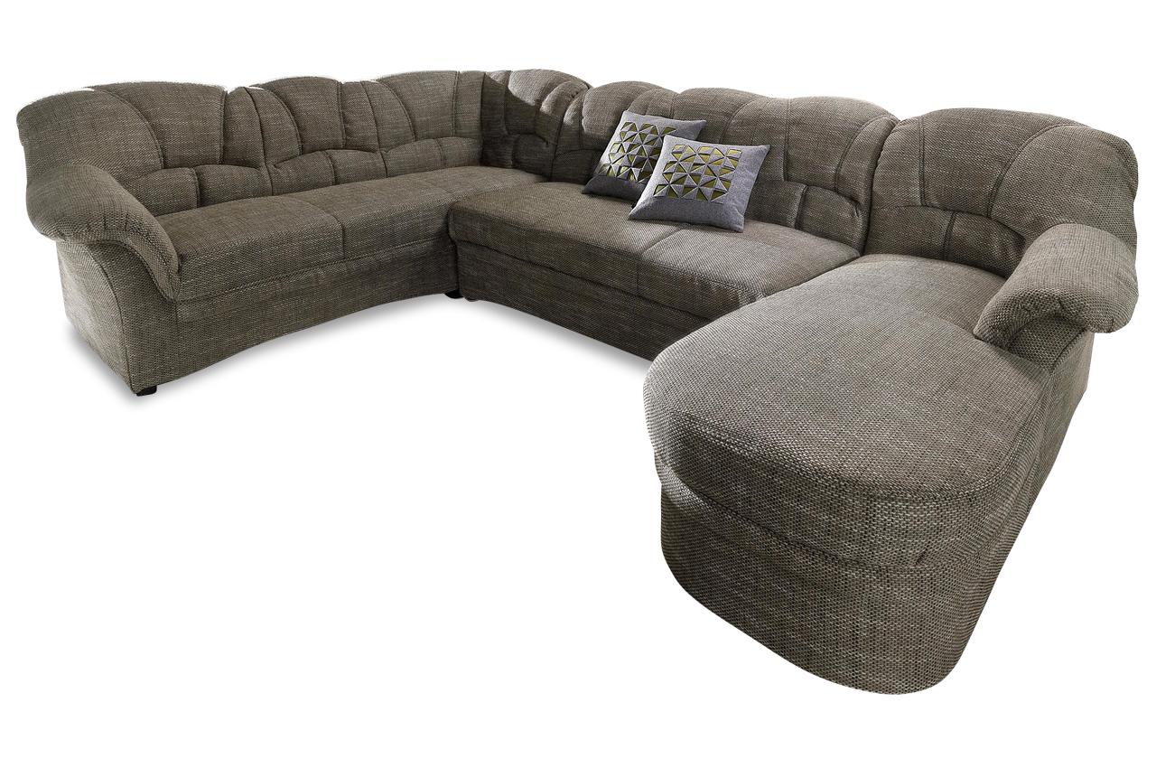 wohnlandschaft karlotta mit schlaffunktion schwarz mit federkern sofas zum halben preis. Black Bedroom Furniture Sets. Home Design Ideas