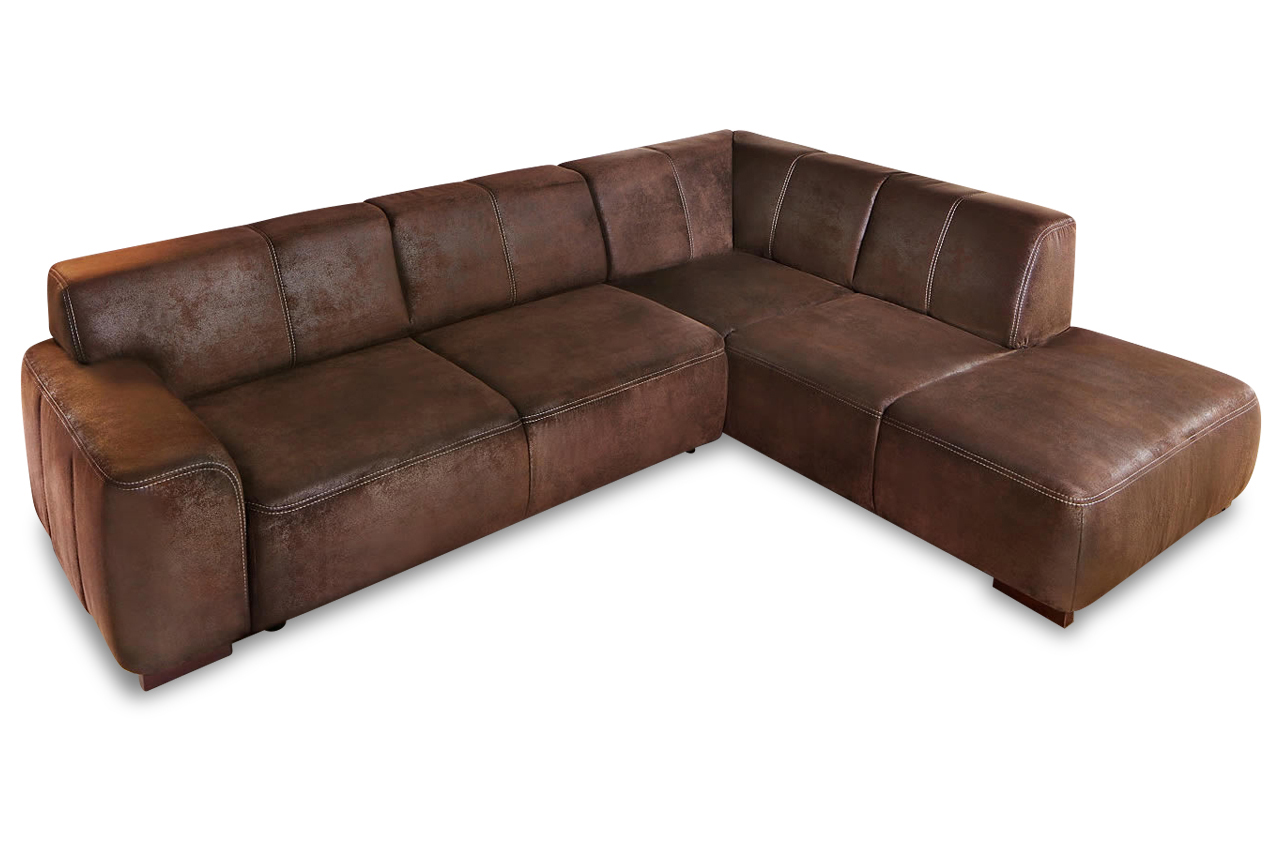 ecksofa xl braun mit federkern sofas zum halben preis. Black Bedroom Furniture Sets. Home Design Ideas