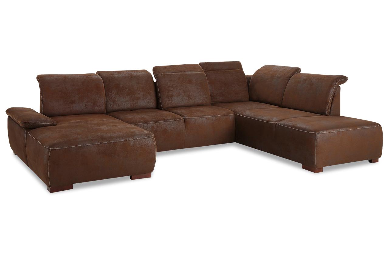 wohnlandschaft mit sitzverstellung braun sofas zum halben preis. Black Bedroom Furniture Sets. Home Design Ideas