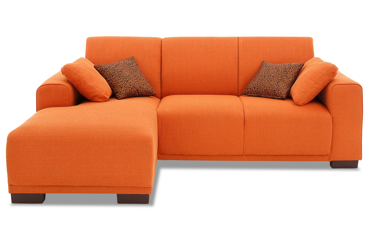 Stolmar ecksofa bornholm orange sofa couch ecksofa ebay for Ecksofa terracotta