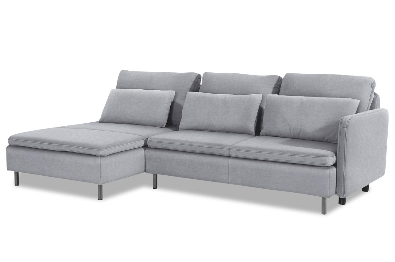 ecksofa bolero mit schlaffunktion grau sofa couch. Black Bedroom Furniture Sets. Home Design Ideas