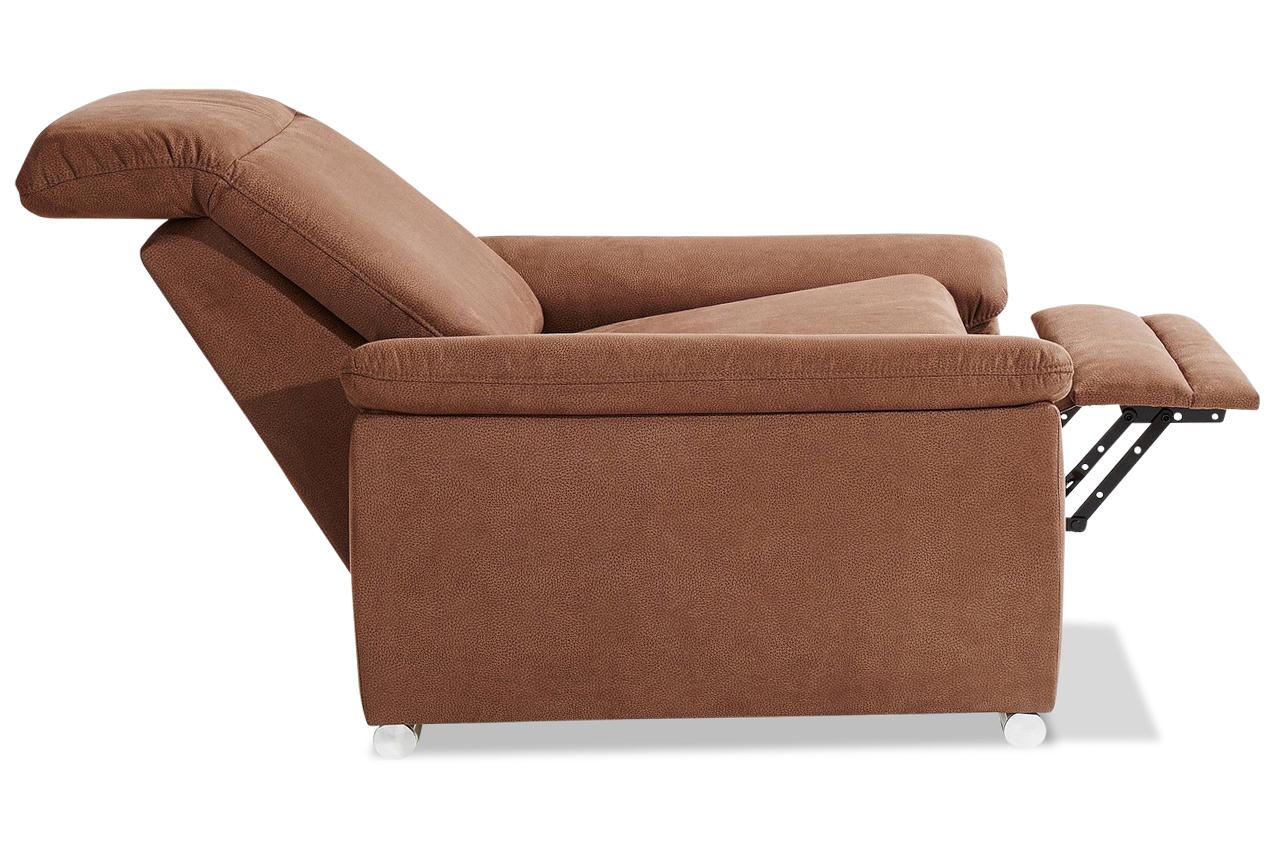sessel mit relax braun mit federkern sofas zum. Black Bedroom Furniture Sets. Home Design Ideas