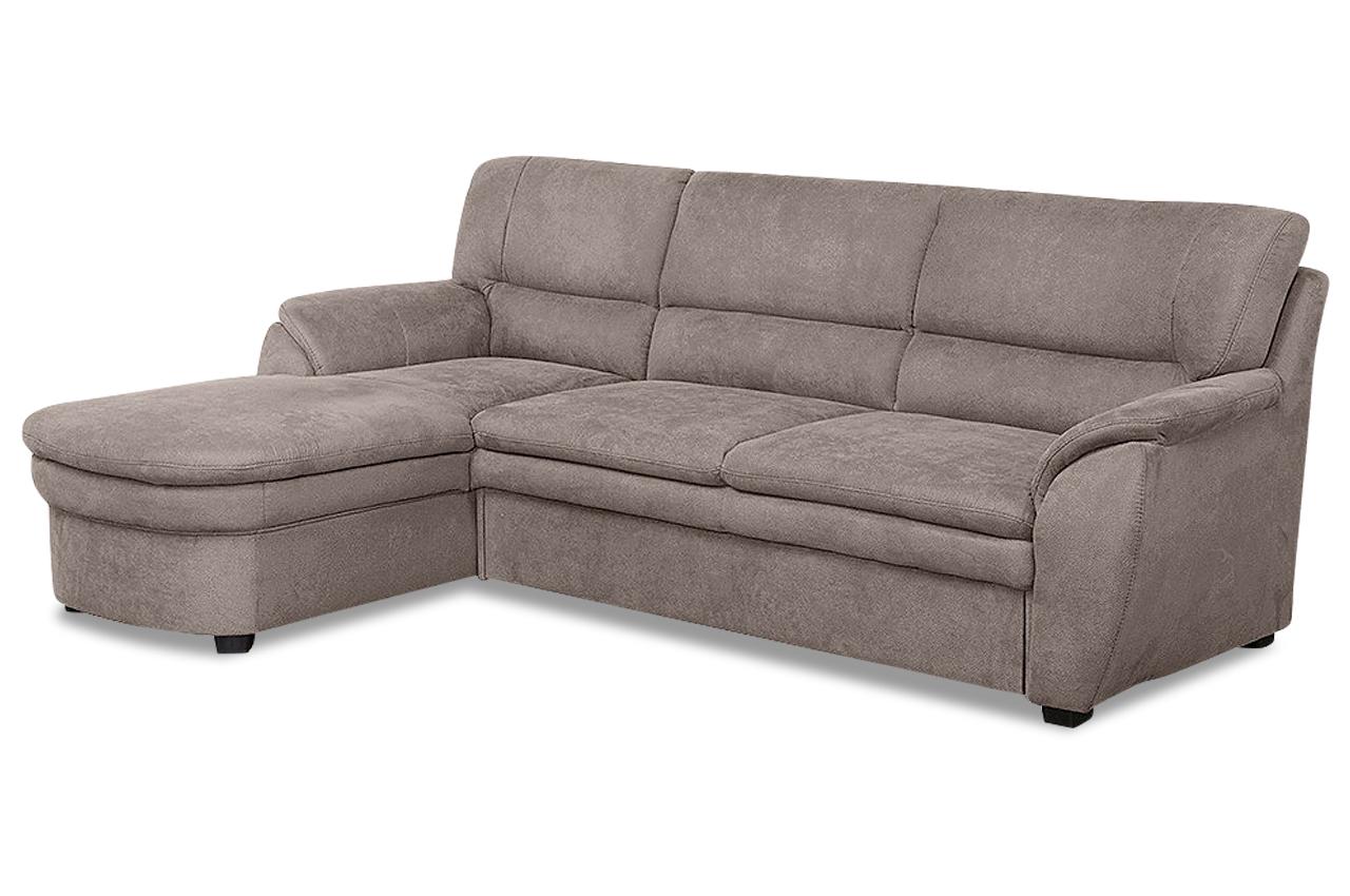 ecksofa ginger braun mit federkern sofas zum halben preis. Black Bedroom Furniture Sets. Home Design Ideas