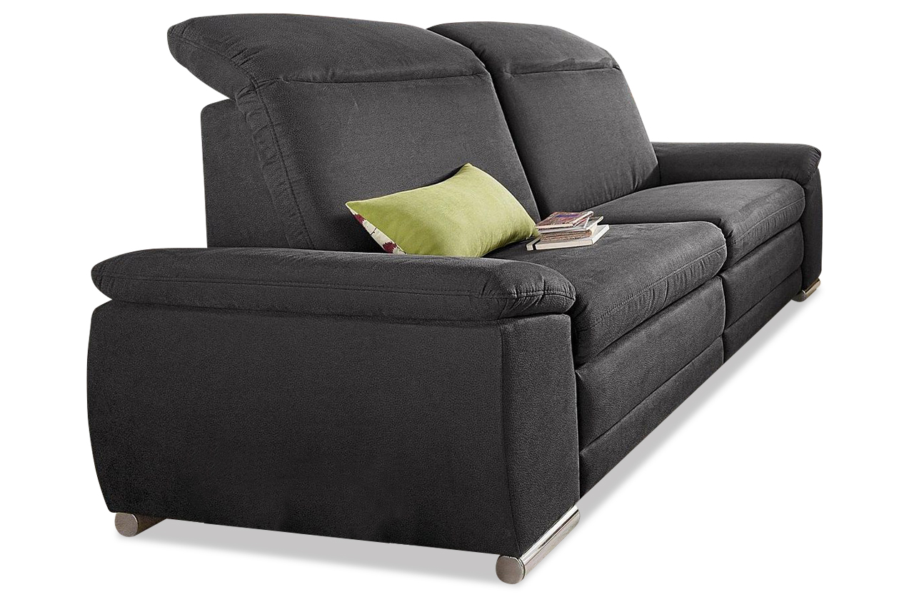 3er sofa mit relax anthrazit mit federkern sofas zum halben preis. Black Bedroom Furniture Sets. Home Design Ideas