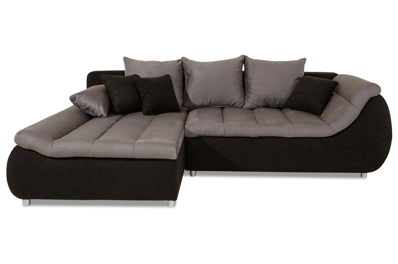 Polsterecke imola mit bett stoff sofa couch ecksofa ebay for Sofa bett kombination