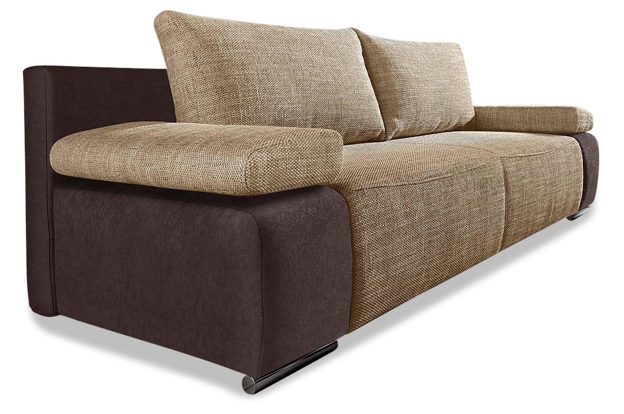 3er sofa sevilla mit schlaffunktion braun sofa couch ecksofa ebay. Black Bedroom Furniture Sets. Home Design Ideas
