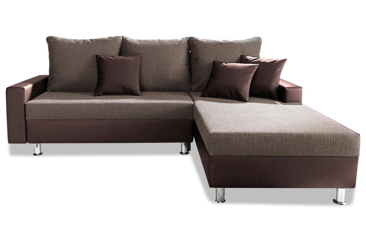Sit more polsterecke maxi mit bett sofas zum halben preis for Ecksofa braun mit schlaffunktion