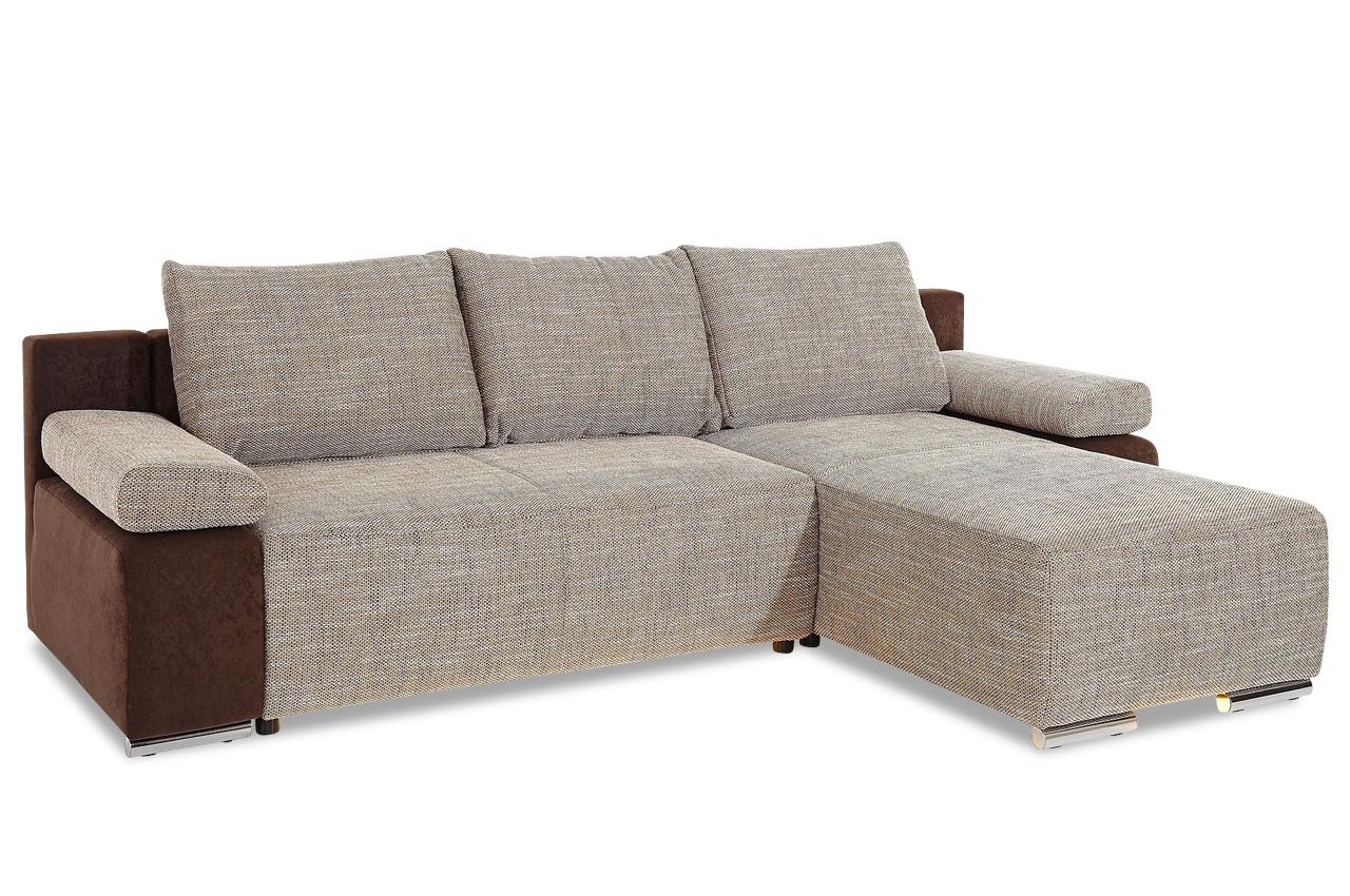 ecksofa mit led und schlaffunktion braun sofas zum halben preis. Black Bedroom Furniture Sets. Home Design Ideas