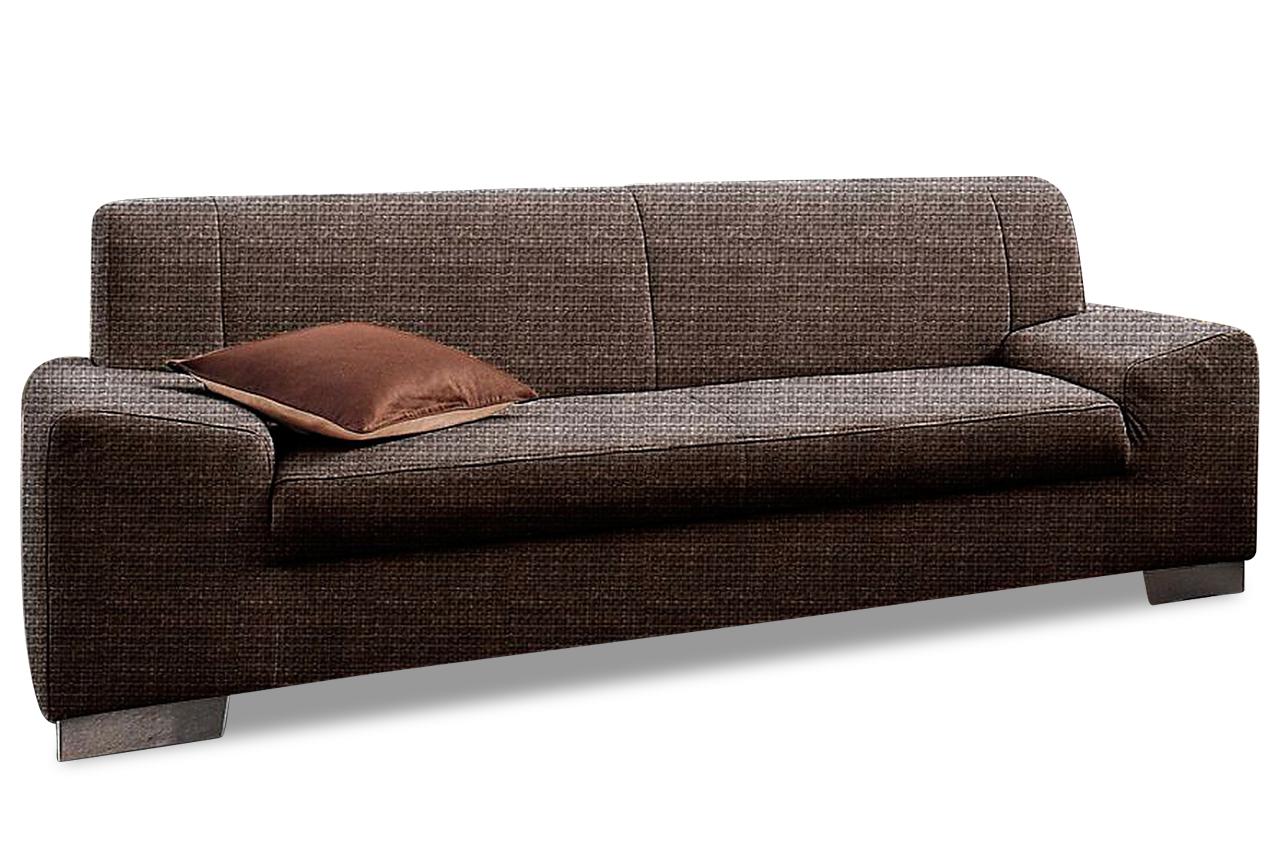 3er sofa alisson braun sofas zum halben preis. Black Bedroom Furniture Sets. Home Design Ideas