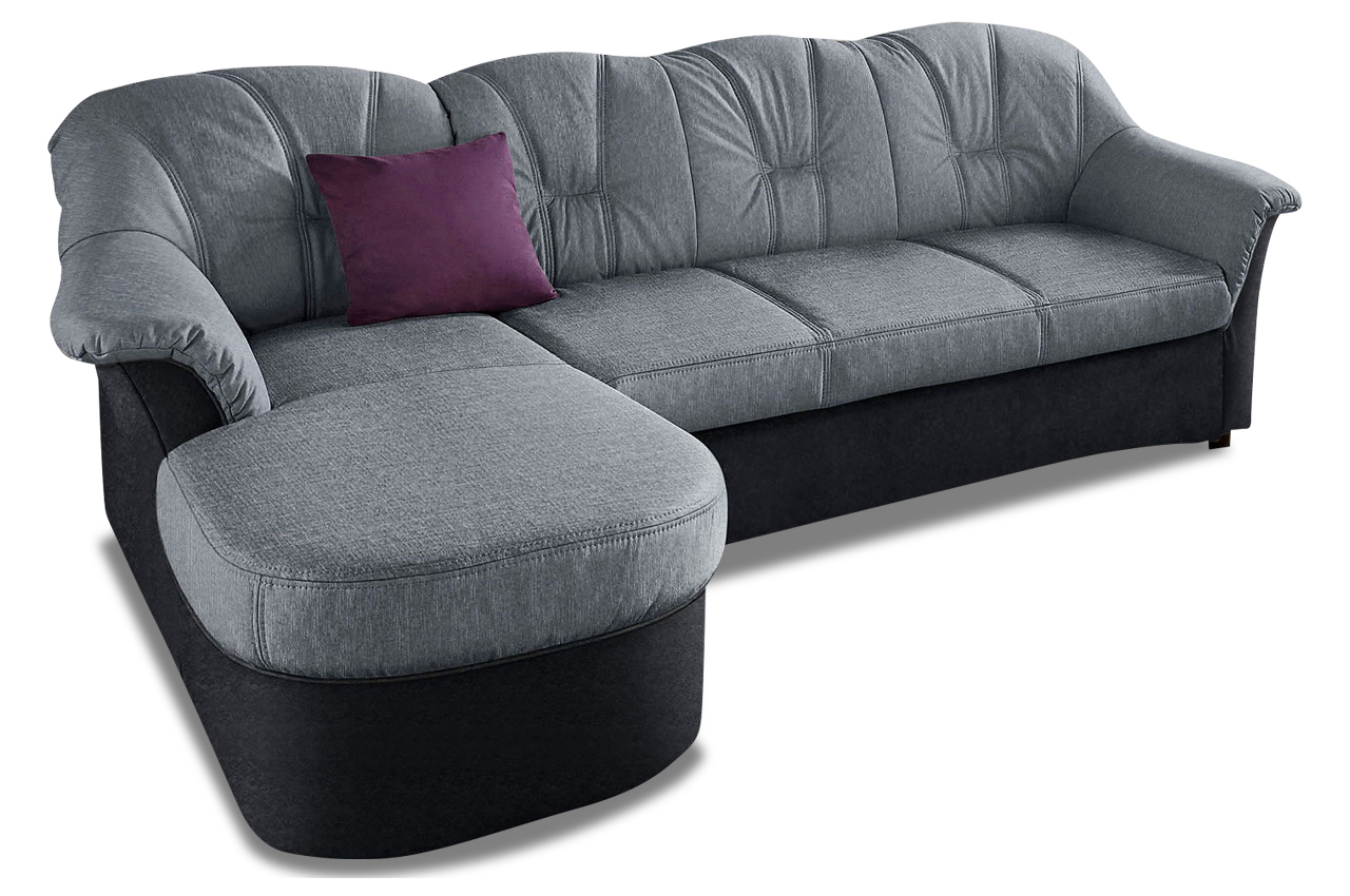 ecksofa flores grau sofa couch ecksofa ebay. Black Bedroom Furniture Sets. Home Design Ideas
