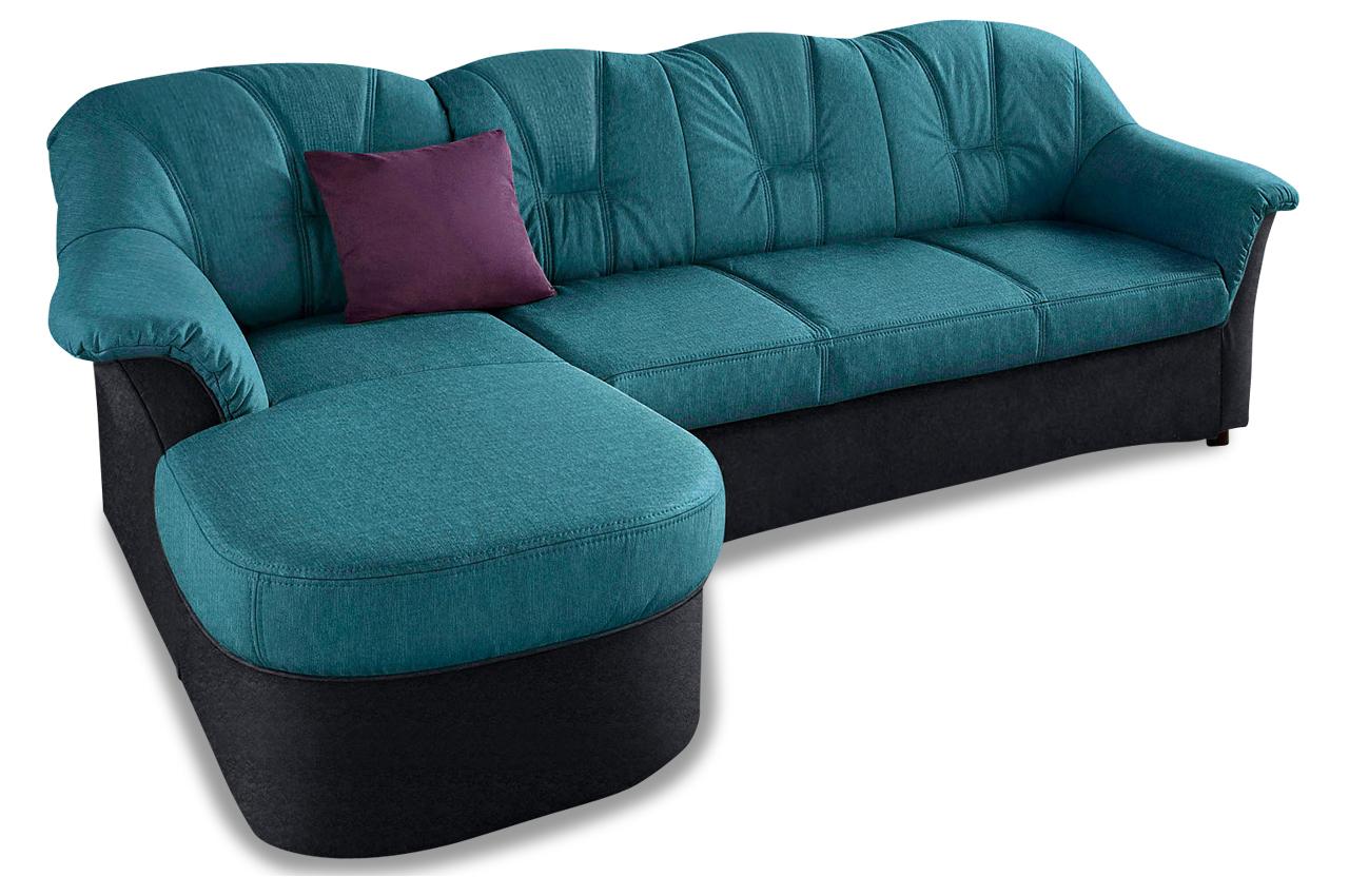 Polsterecke flores mit bett stoff sofa couch ecksofa ebay for Bett mit couch