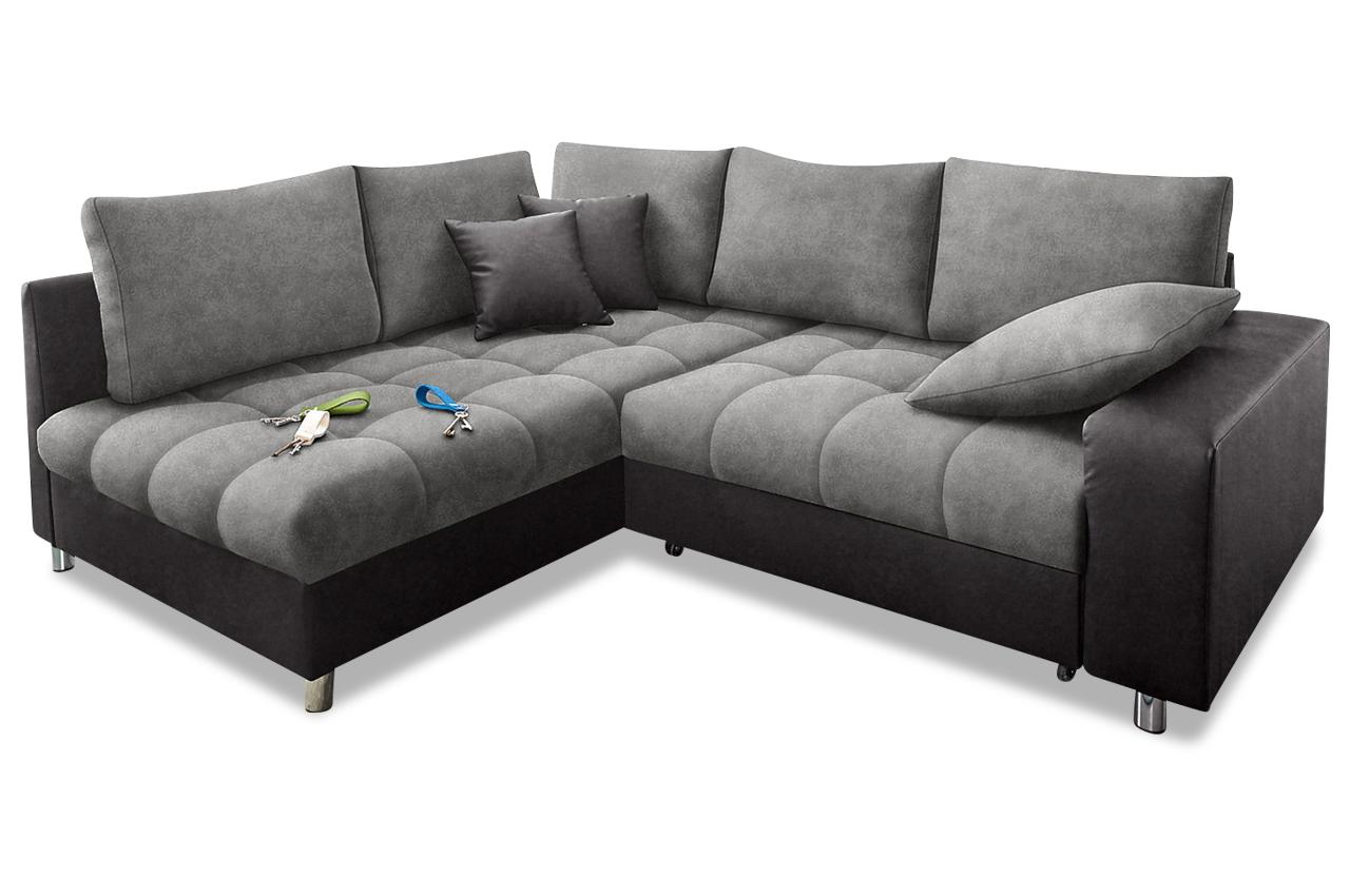 nova via ecksofa xl tobi mit schlaffunktion grau sofas zum halben preis. Black Bedroom Furniture Sets. Home Design Ideas