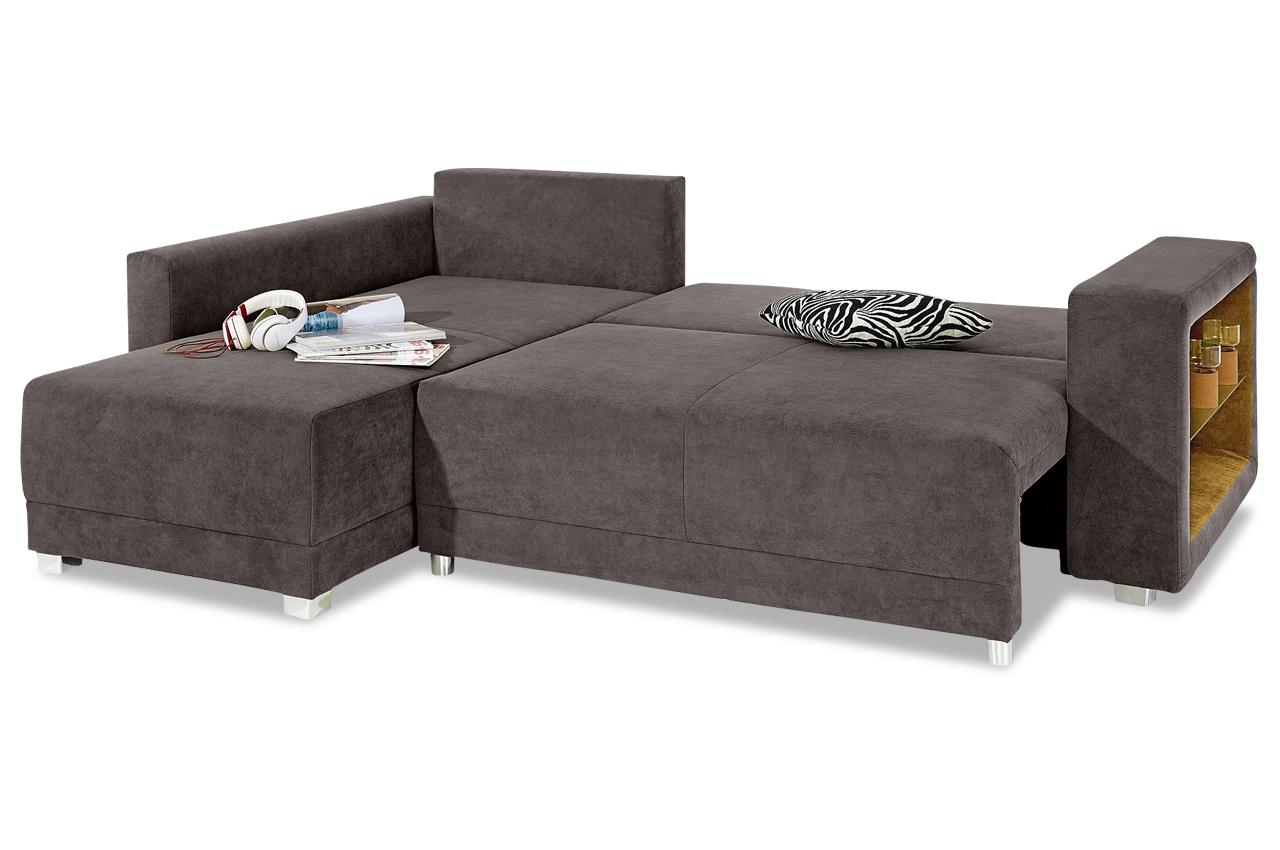 ecksofa mit led und schlaffunktion grau sofas zum halben preis. Black Bedroom Furniture Sets. Home Design Ideas