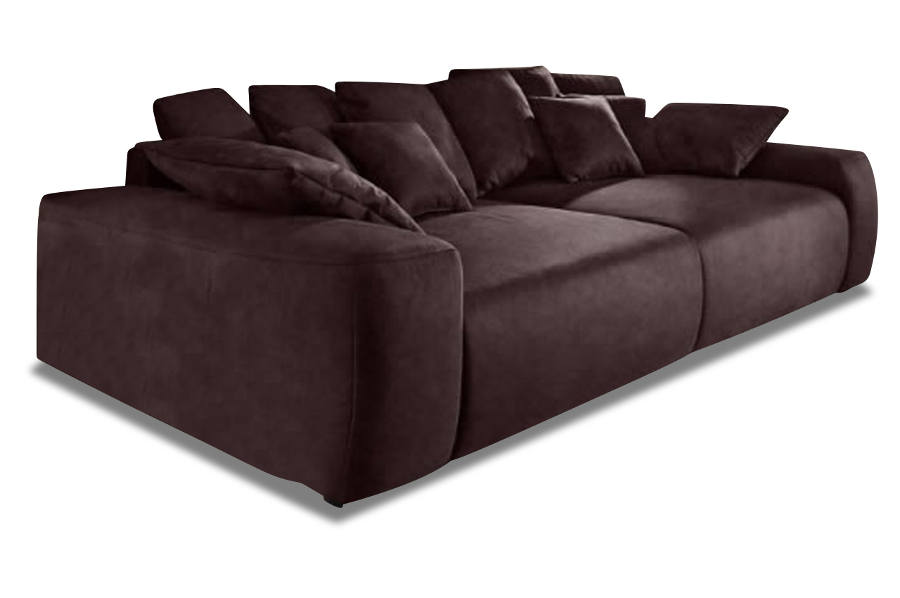 nova via bigsofa glamour braun mit boxspring sofa couch ecksofa ebay. Black Bedroom Furniture Sets. Home Design Ideas