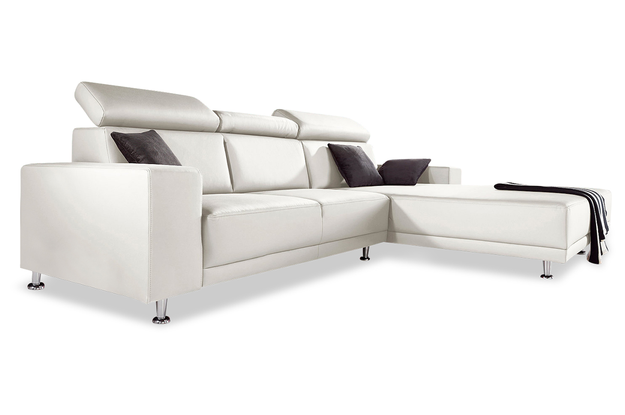 sofa team ecksofa 174 mit sitzverstellung weiss. Black Bedroom Furniture Sets. Home Design Ideas