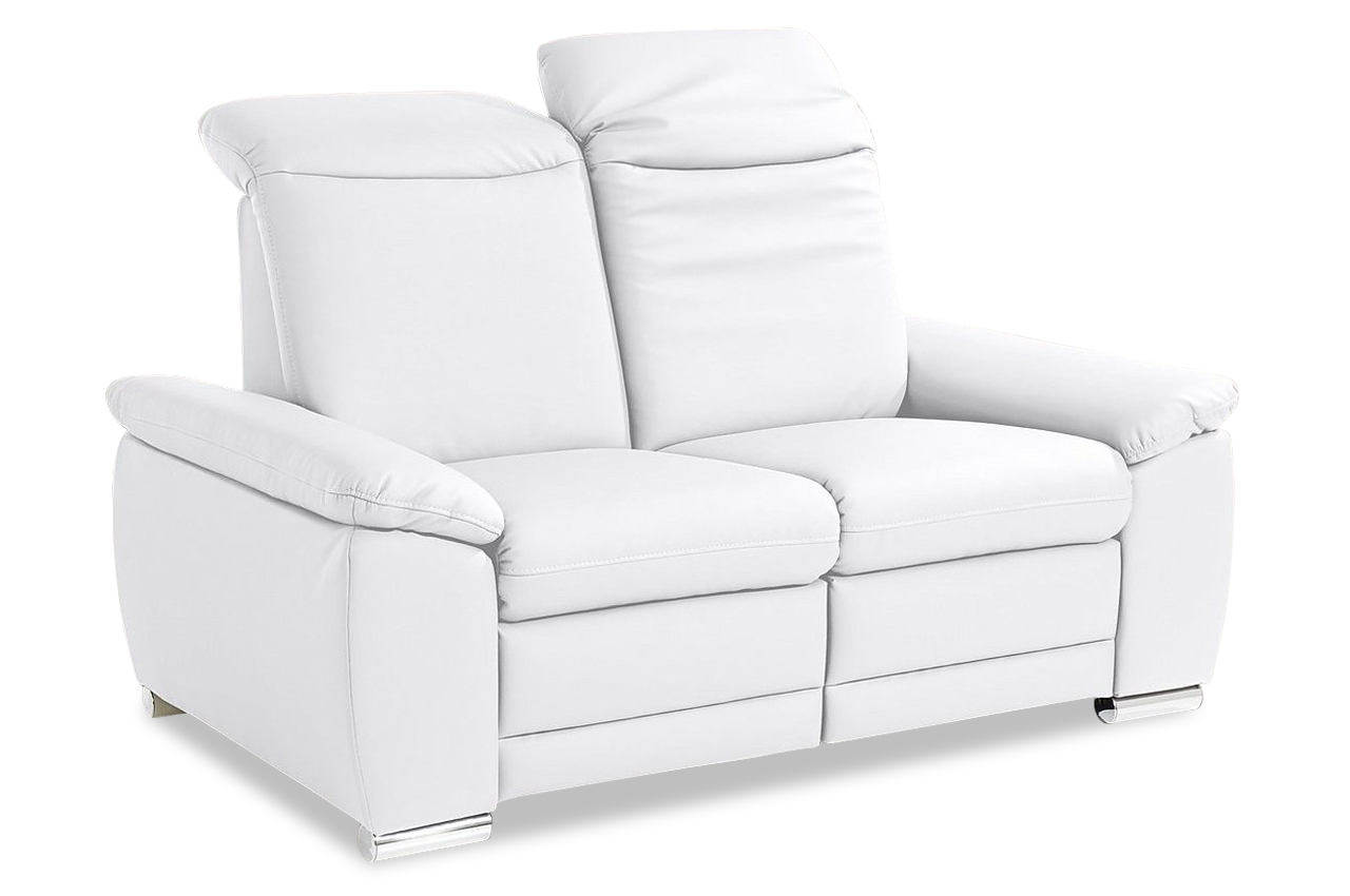 2er sofa mit relax weiss mit federkern sofas zum halben preis. Black Bedroom Furniture Sets. Home Design Ideas