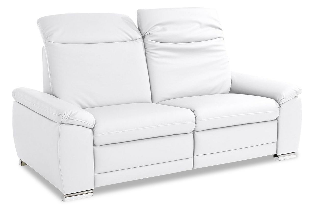 3er sofa mit relax weiss mit federkern sofas zum halben preis. Black Bedroom Furniture Sets. Home Design Ideas