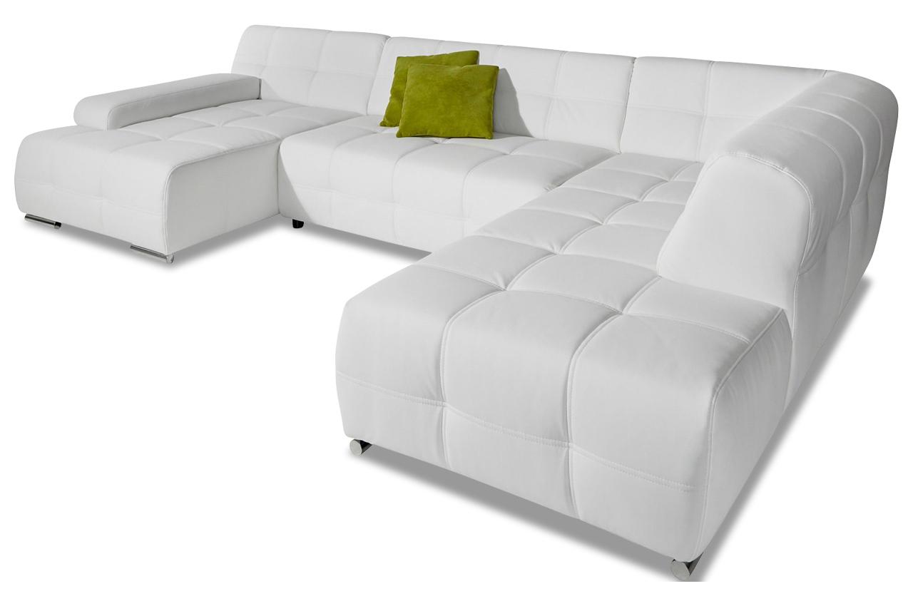 wohnlandschaft boogie mit schlaffunktion weiss sofas. Black Bedroom Furniture Sets. Home Design Ideas