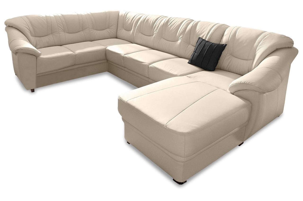 wohnlandschaft savona creme mit federkern sofas zum halben preis. Black Bedroom Furniture Sets. Home Design Ideas