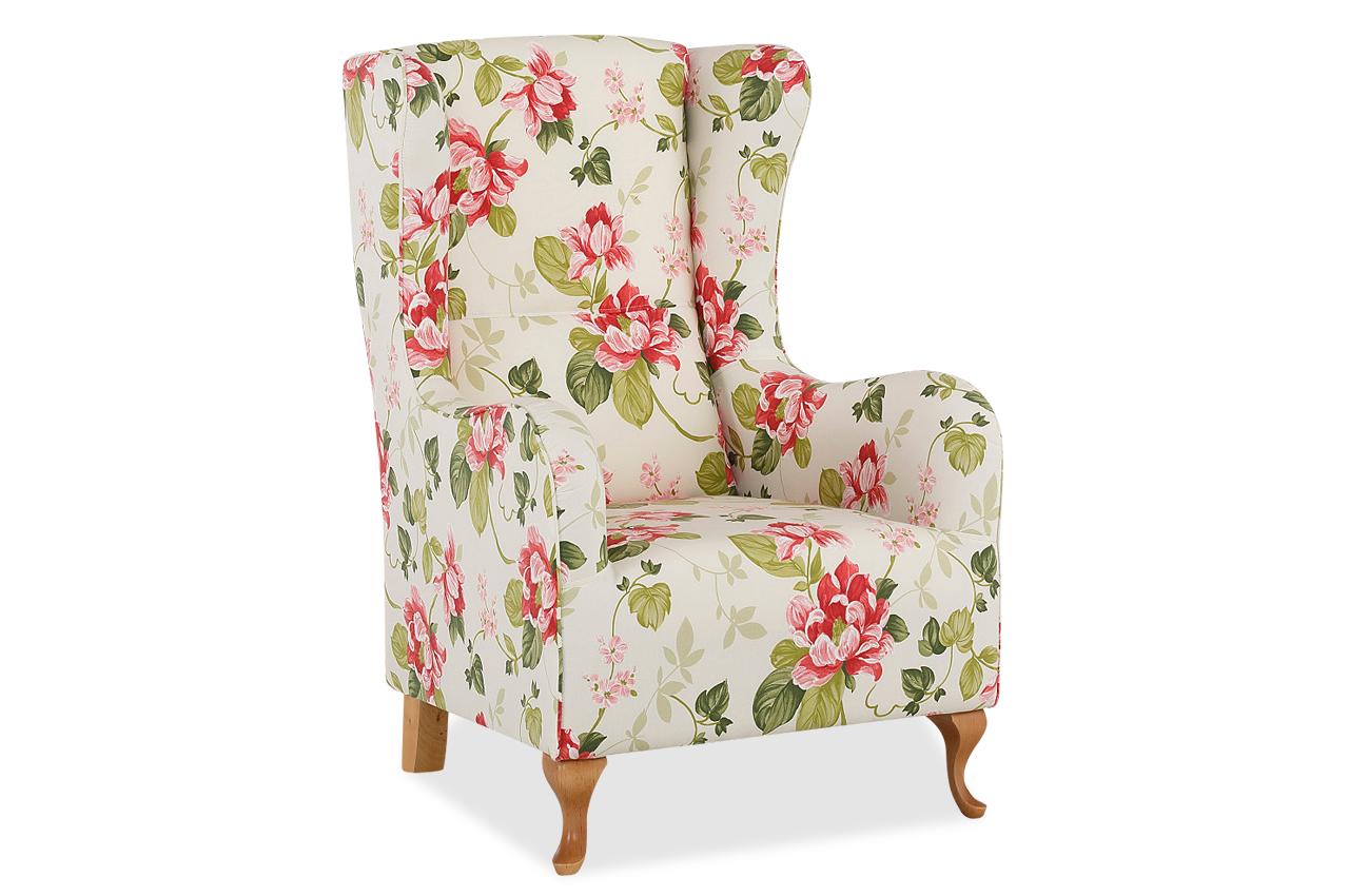 ohrenbackensessel gracia bunt mit federkern sofas zum. Black Bedroom Furniture Sets. Home Design Ideas