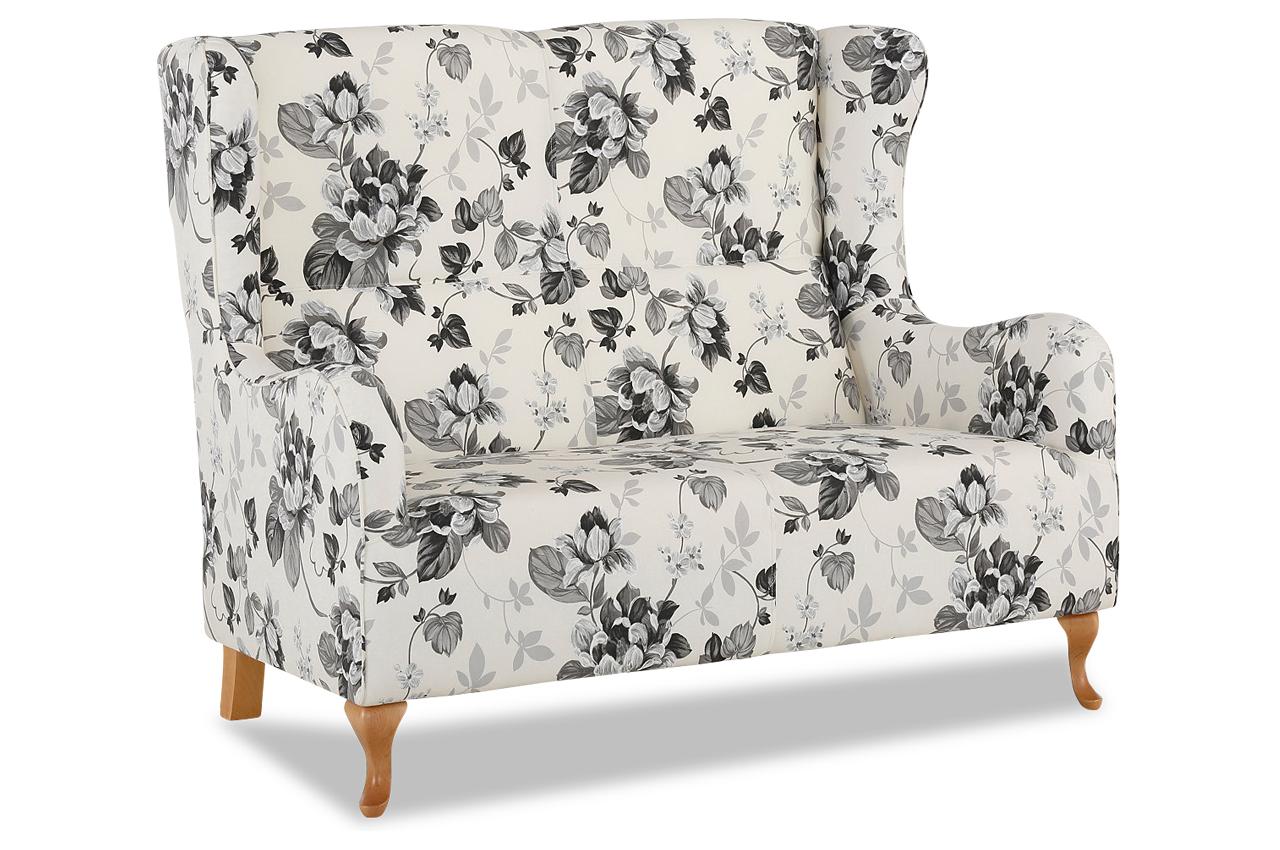 2er sofa gracia bunt mit federkern sofas zum halben preis. Black Bedroom Furniture Sets. Home Design Ideas