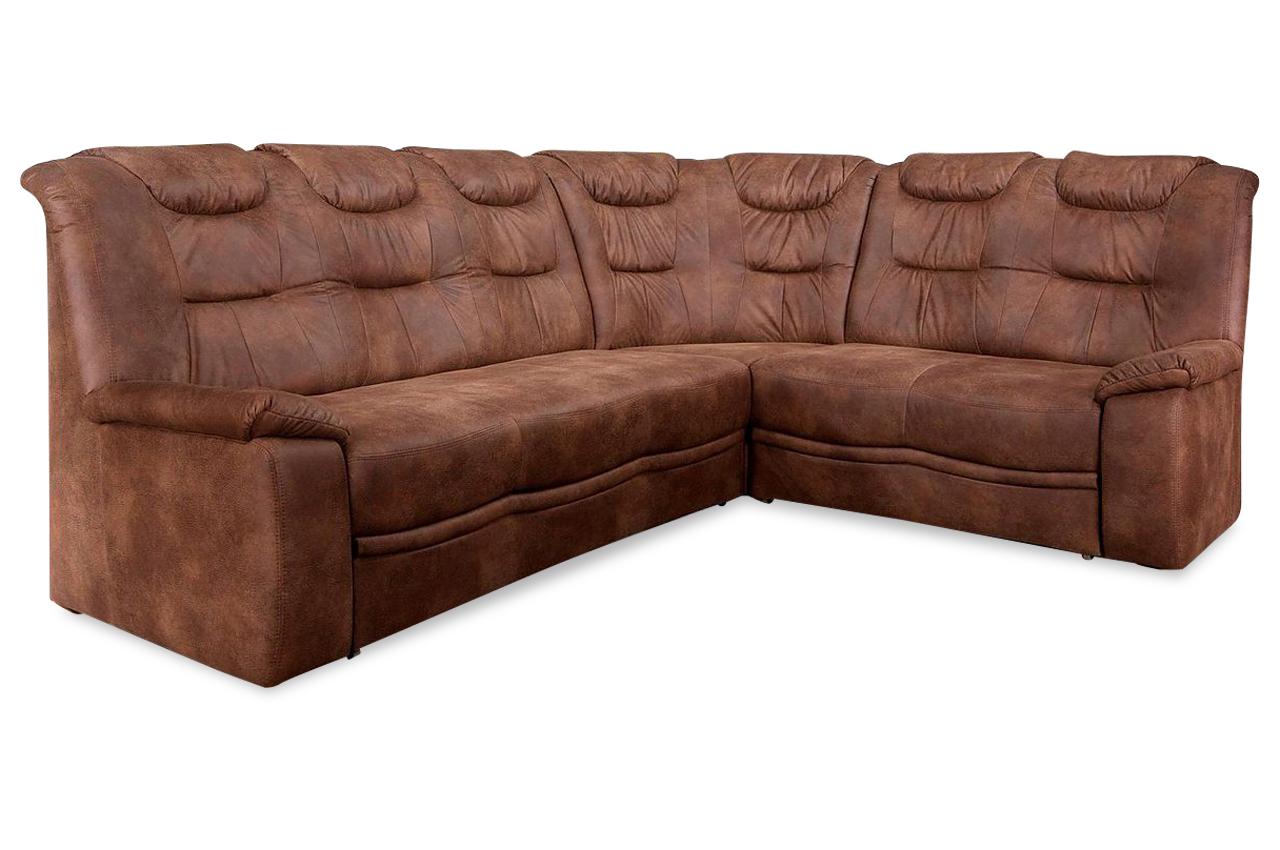 rundecke grande mit schlaffunktion braun mit federkern sofas zum halben preis. Black Bedroom Furniture Sets. Home Design Ideas