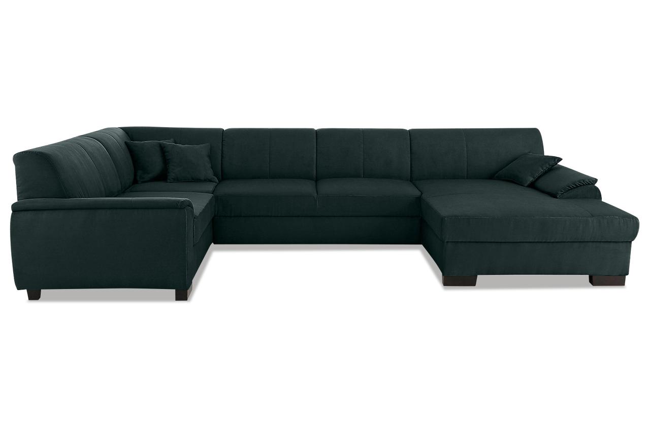 wohnlandschaft loft schwarz mit boxspring sofas zum. Black Bedroom Furniture Sets. Home Design Ideas