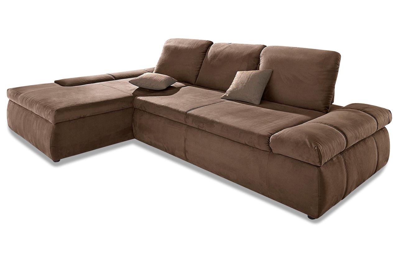 Verschiedene Sofa Sitztiefenverstellung Dekoration Von Ecksofa Lakeside - Mit Sitzverstellung - Braun
